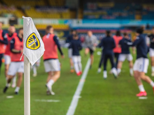 Leeds United warm-up at Elland Road. Pic: Bruce Rollinson