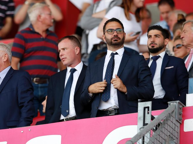 Leeds United director Angus Kinnear alongside Victory Orta. Pic: Getty