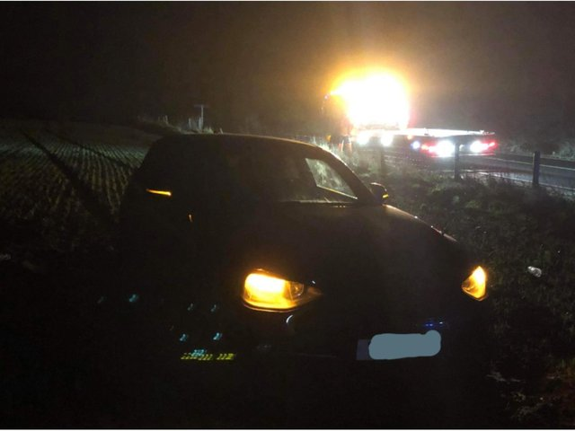 A full car of Yorkshire residents were given Covid fines by police after becoming stuck and 'lost' in a muddy field - after swerving off the A66.