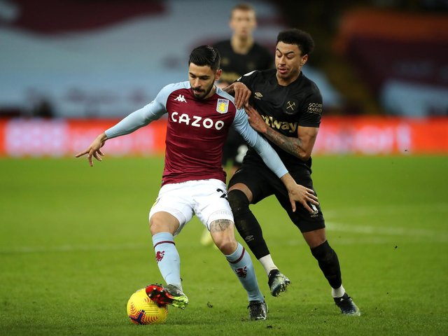 WHITES INTEREST: Says Aston Villa midfielder Morgan Sanson, front, whilst he was at Marseille.  Photo by Nick Potts - Pool/Getty Images.