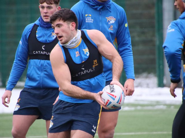 Rhinos are keen to create opportunities for young players like Liam Tindall, Kevin Sinfield says. Picture by Phil Daly/Leeds Rhinos.