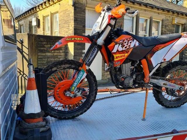 The motorbike was seized by police (Photo: WYP)