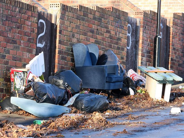 26,079 fly-tipping incidents were reported to Leeds City Council in 2019-20