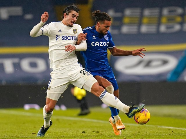 Leeds United defender Pascal Struijk in action against Everton at Elland Road. Pic: Getty