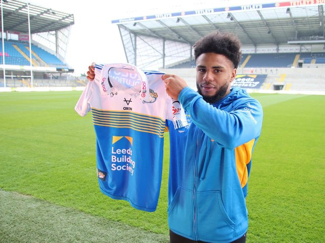 Rhinos' new number 33 at Headingley on Wednesday. Picture by Phil Daly/Leeds Rhinos.