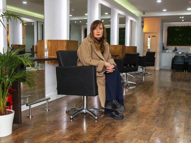 Louise Howard-Long, owner of Architect Hair Salon in Headingley