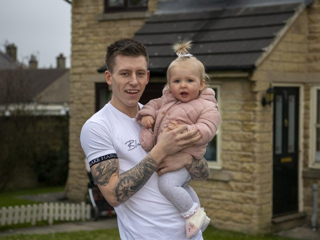 Dale Spink, 25 and his fiancee Elkie Kilbride, 26, are currently renting while attempting to save money on the side from a booming meal preparation business.