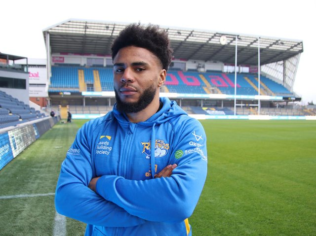 Kyle Eastmond in his new surroundings at Headingley on Wednesday. Picture by Phil Daly/Leeds Rhinos.
