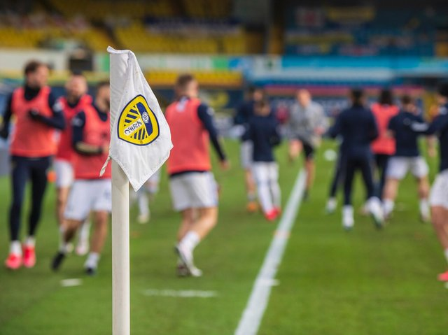 Leeds United warm-up at Elland Road. Pic: Getty