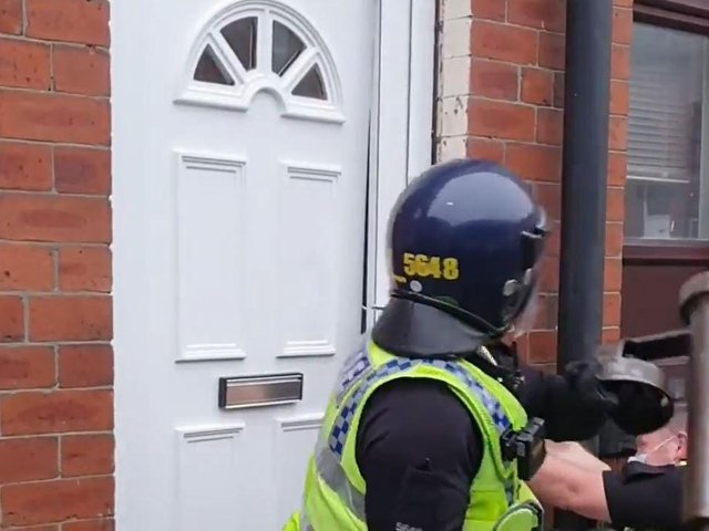 Dramatic footage shows officer ram down door in Beeston drugs raid (Photo: WYP)