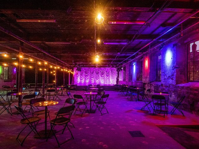 The new events space in The Old Woollen at Sunny Bank Mills.