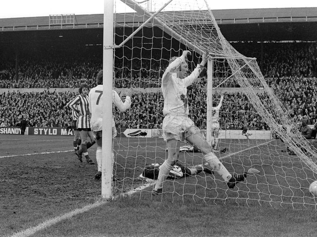 UNSTOPPABLE: Leeds United thumped Southampton 7-0 at Elland Road on March 4, 1972. Picture by Varleys.