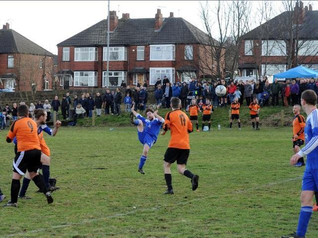 A charity football match which took place on the field in March 2020.