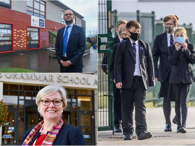 Matthew Fitzpatrick, Principal at Morley Newlands Academy, and Sue Woodroofe, Principal at The Grammar School at Leeds are looking forward to welcoming pupils back to their schools