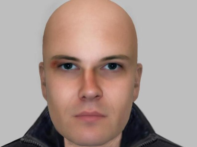 An e-fit of a man police would like to speak to.