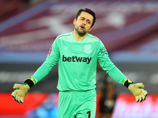NOT TRAINED: First choice West Ham United goalkeeper Lukasz Fabianski. Photo by Julian Finney/Getty Images.