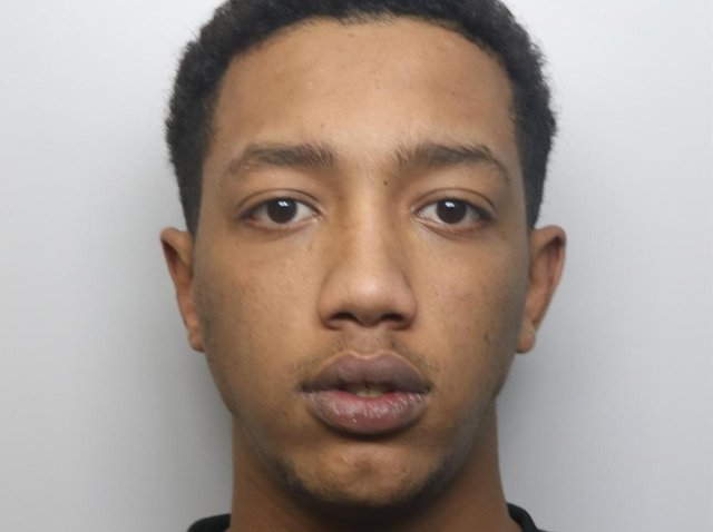 Burglar Nadir Omer pushed over toddler and threatened to stab mum as he stole £5,000 from house in Meanwood, Leeds.