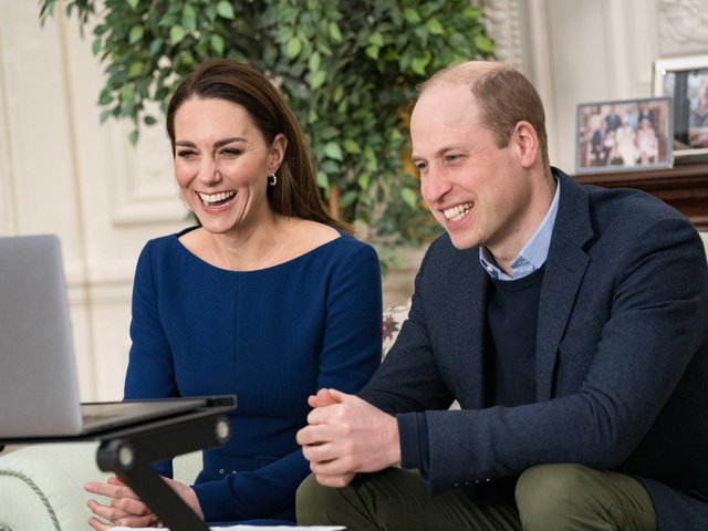 Duke and Duchess of Cambridge during there virtual engagement which will appear in the Commonwealth Day programme on Sunday.