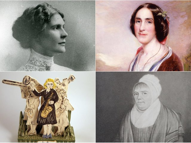Pictured, clockwise, Leonara Cohen, Ellen Heaton, Betty Beecroft and Ivy Benson.