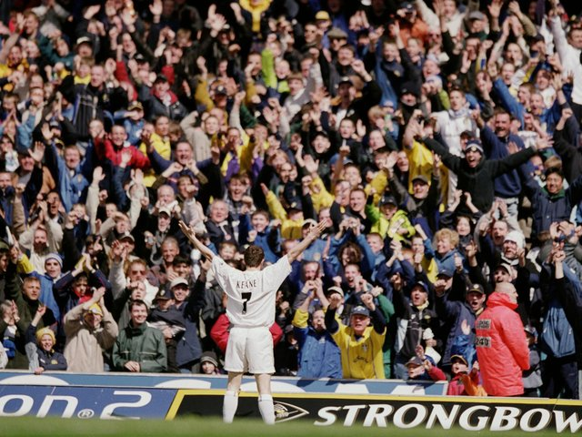 Enjoy these photo memories from Leeds United's 2-0 win against Chelsea in April 2001. PIC: Getty