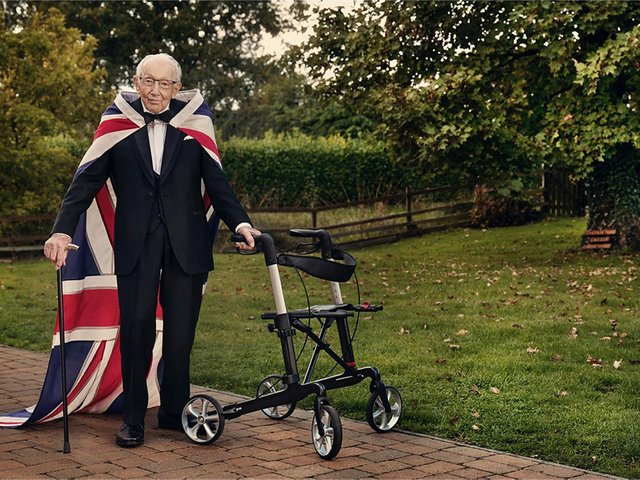 Captain Sir Tom Moore by photographer Gavin Bond which he took for GQ magazine.