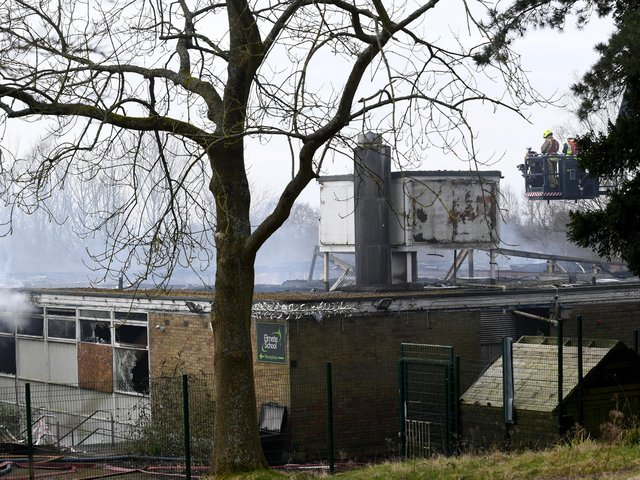 A large fire broke out at the former Elmete Wood School in Roundhay at 6pm on Saturday