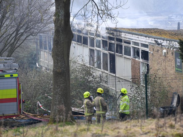 Pictures from the scene of the fire in Roundhay