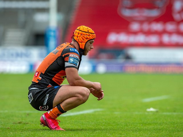 Danny Richardson had a difficult first year at Castleford. Picture by Bruce Rollinson.