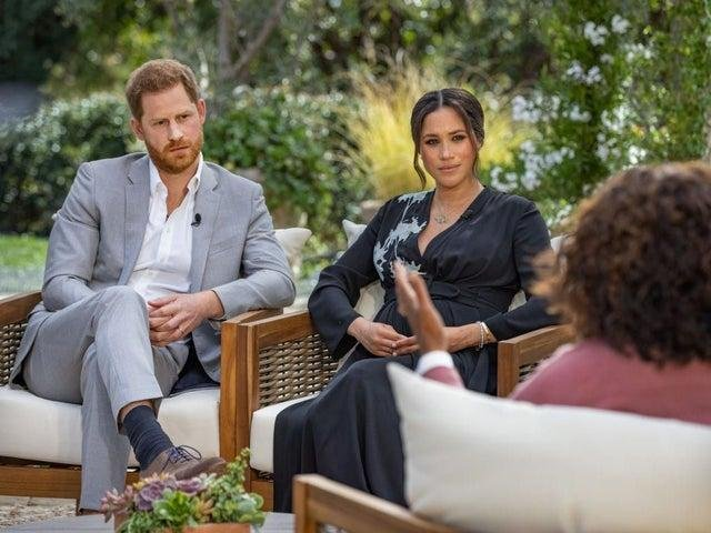 Harry and Meghan spoke to Oprah in an interview which will be broadcast on ITV1 at 9pm