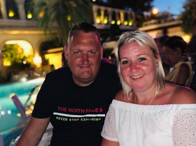Danny Malin and his girlfriend Carrie who died suddenly in February after a cardiac arrest