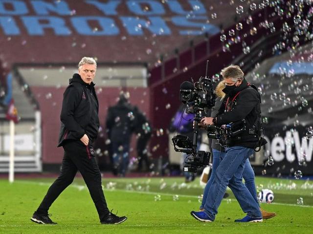 West Ham head coach David Moyes. Pic: Getty