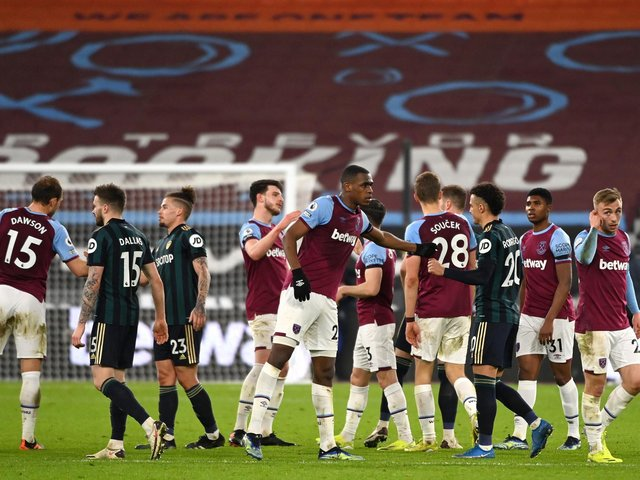 Leeds United fell to defeat at West Ham on Monday night. Pic: Getty