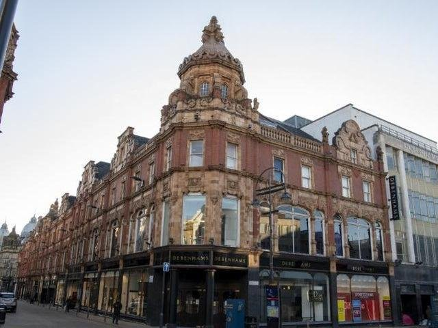 The former Debenhams building in Briggate.