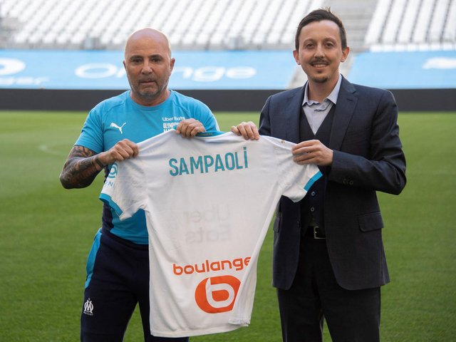 CLOSE IDEOLOGY - Jorge Sampaoli talked about Leeds United head coach Marcelo Bielsa as a reference point as he began work as the new Marseille boss this week. Pic: Getty