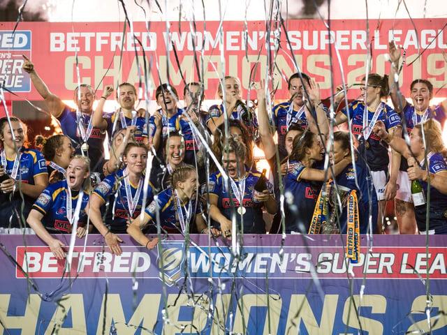 Leeds Rhinos celebrate their 2019 Grand Final win. (ISABEL PEARCE/SWPIX)