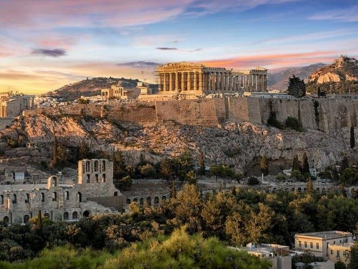Greek Tourism minister Haris Theoharis said the country hopes to welcome foreign tourists from May. Pictured: Athens, Greece.
