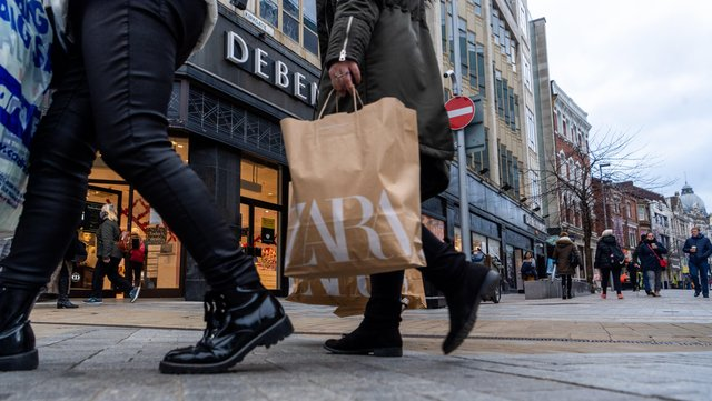 Date: 2nd December 2020.Picture James Hardisty.Shoppers returned back to the high street in Leeds on the first day after the second national lockdown and the run-up to Christmas.