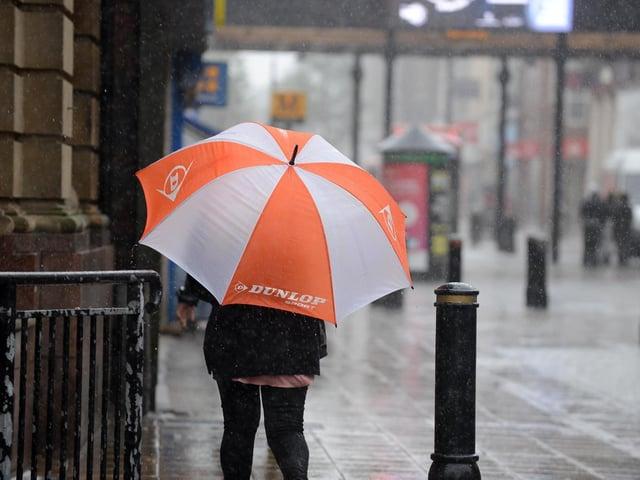 Heavy rain forecast in Leeds.