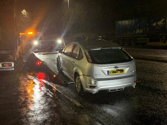 Four people have been fined for breaking lockdown rules - as the vehicle they were travelling in was seized for being untaxed (photo: West Yorkshire Police Roads Policing Unit)