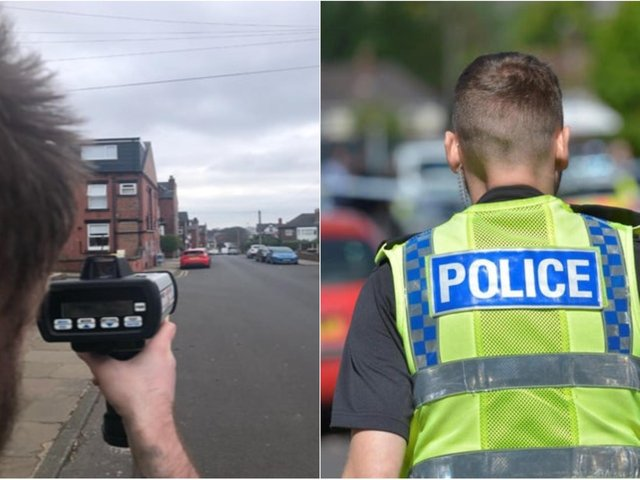 Police deployed their speed guns in Headingley and Adel after residents had complained about drivers (photo: West Yorkshire Police)