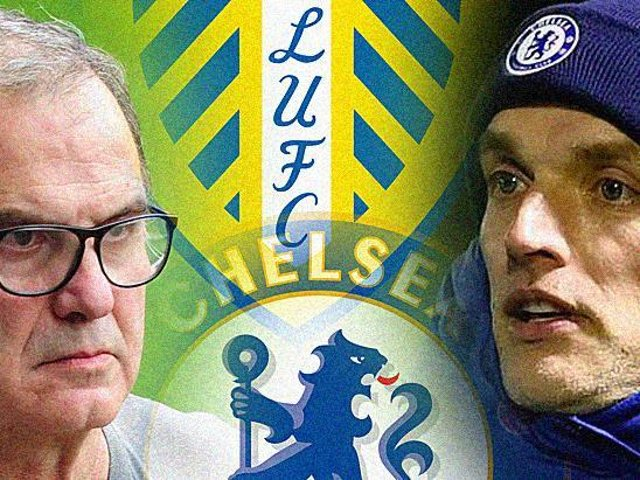 FIRST MEETING: Between Whites head coach Marcelo Bielsa, left, and Chelsea boss Thomas Tuchel, right. Graphic by Graeme Bandeira.