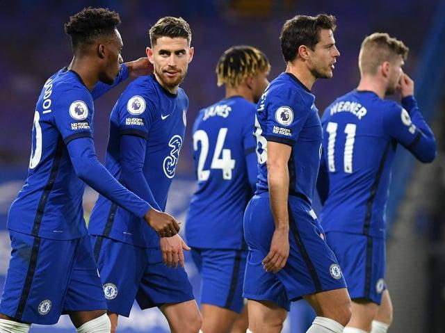 Chelsea celebrate at Stamford Bridge. Pic: Getty