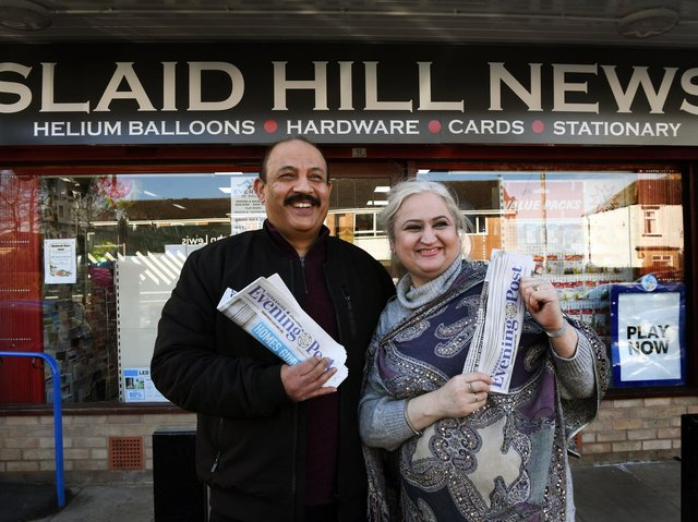 Shazia Tariq and her husband Mohammed have run Slaid Hill News on Slaid Hill Court in Shadwell, for more than 16 years.  Picture : Jonathan Gawthorpe