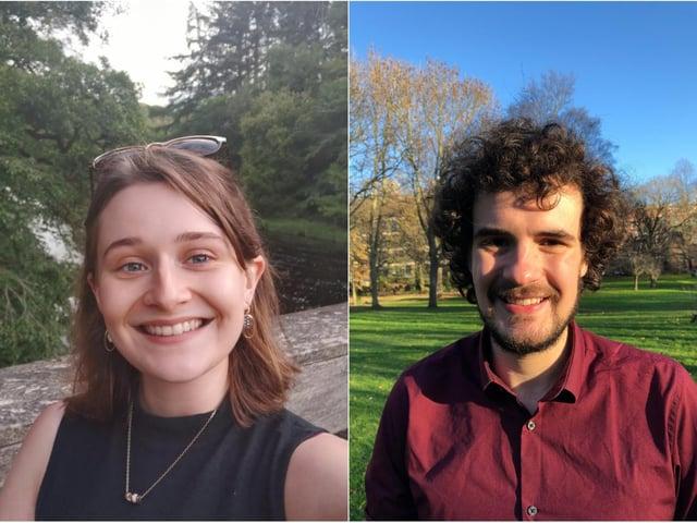 PhD students Elizabeth Young and Joe Lawley
