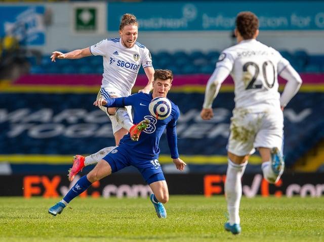 Leeds United defender Luke Ayling in action against Chelsea. Pic: Bruce Rollinson