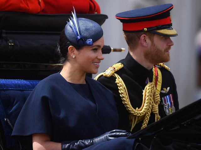 The Duke and Duchess of Sussex at Trooping the Colour