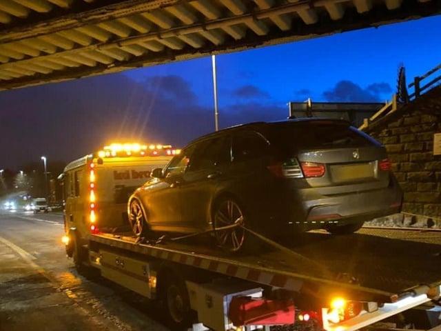 The BMW was seized by police (Photo: WYP)