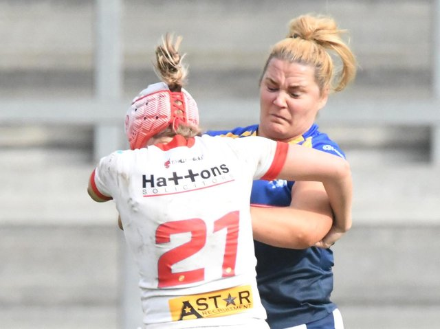 Danika Priim in action for Leeds during the 2019 season. Picture by Garry Beevers.
