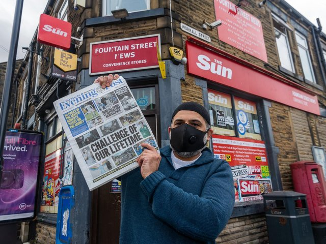 Newsagent Ali Seedat has been running Fountain Street News, Morley, for the past 17 years. Photo: James Hardisty
