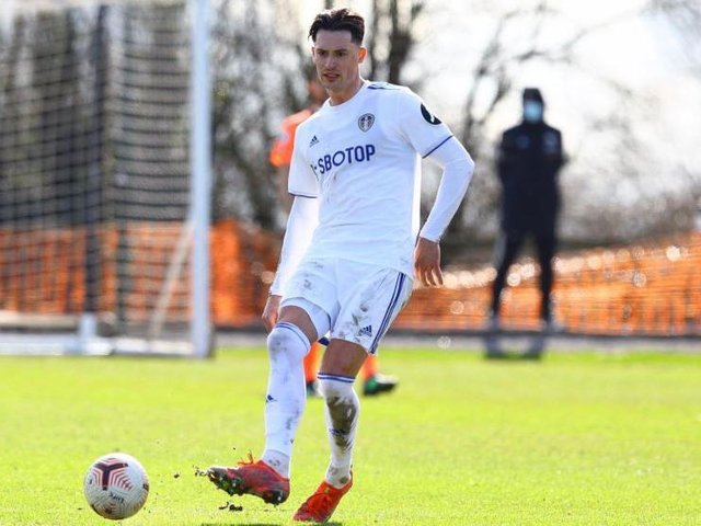 Leeds United defender Robin Koch in action for the club's Under-23s side. Pic: LUFC